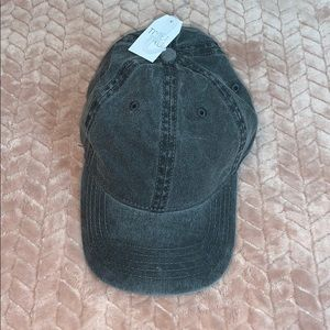 Black Denim Washed Adjustable Baseball Hat